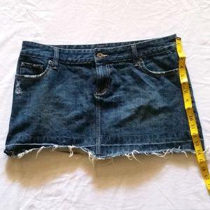American Eagle Distressed Jean Skirt
